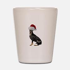Manchester Terrier Christmas Shot Glass