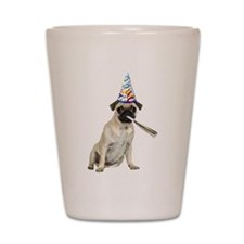Pug Party Shot Glass