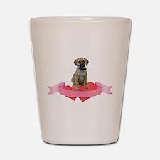 Puggle Valentine Shot Glass
