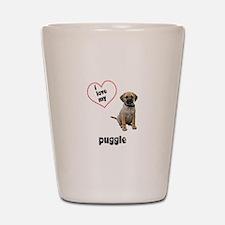 Puggle Lover Shot Glass
