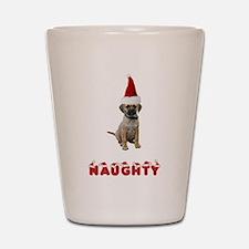 Naughty Puggle Shot Glass