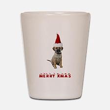 Puggle Christmas Shot Glass