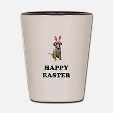 Easter Bunny Puggle Shot Glass