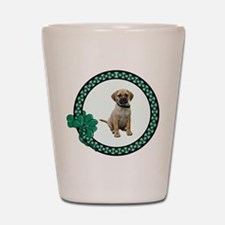 Irish Puggle Shot Glass