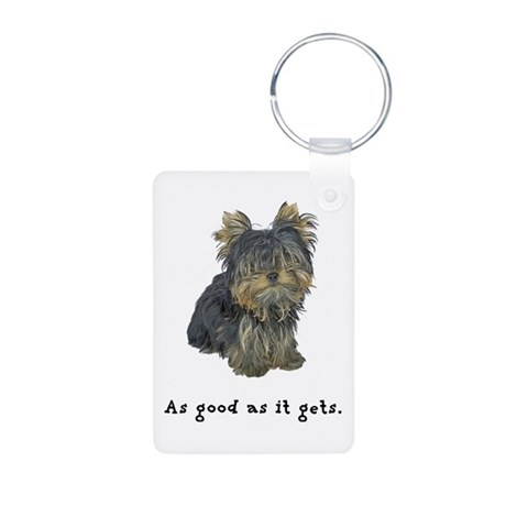 Good Yorkie Aluminum Photo Keychain