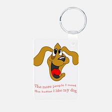 People vs. Dog Keychains