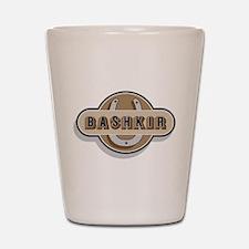 American Bashkir Curly Horse Shot Glass