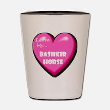 I Love My Bashkir Horse Shot Glass