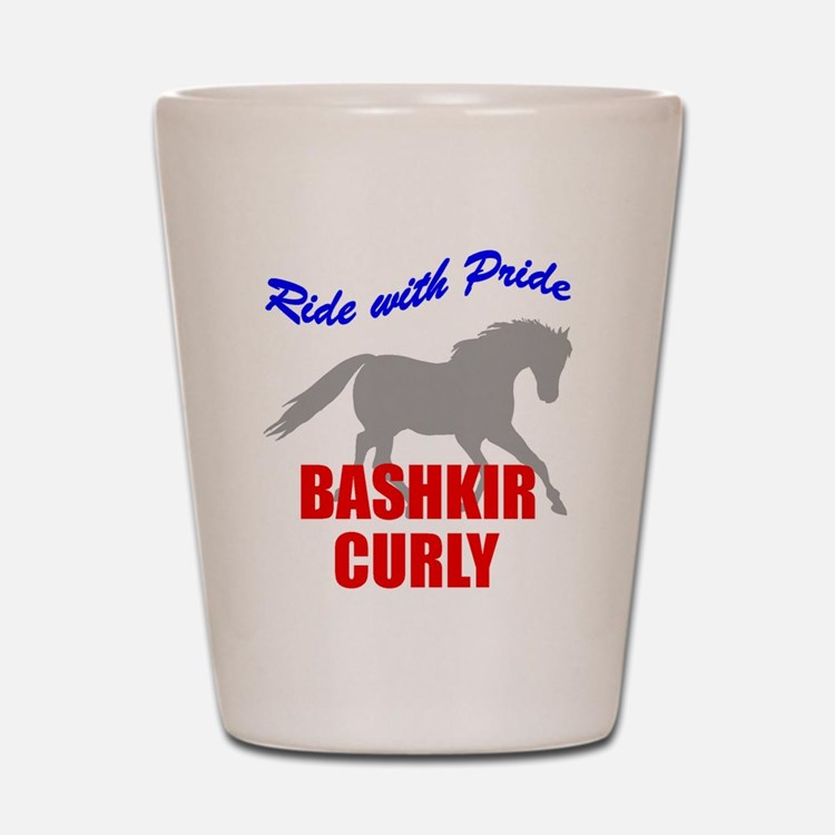 Ride With Pride Bashkir Curly Shot Glass