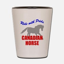 Ride With Pride Canadian Hors Shot Glass