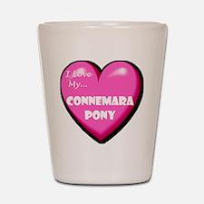 I Love My Connemara Pony Shot Glass