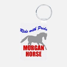Ride With Pride Morgan Horse Keychains