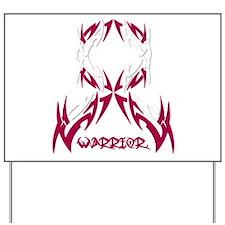 Warrior Head Neck Cancer Yard Sign