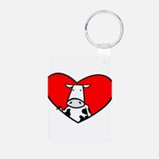 I Heart Cows Keychains