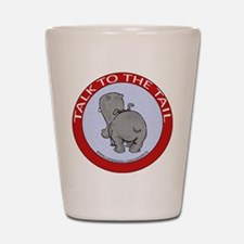 Hippo Talk To The Tail Shot Glass