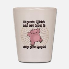Happy Hippo Shot Glass