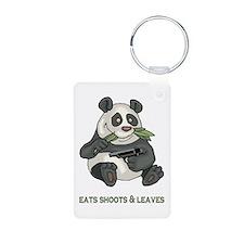 Panda Eats Shoots & Leaves Keychains