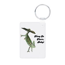 Hang In There Chameleon Keychains