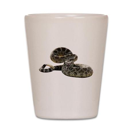 Rattlesnake Photo Shot Glass