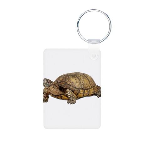 Box Turtle Aluminum Photo Keychain