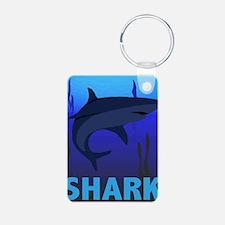 Graphic Shark Keychains