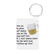 Half Glass Of Beer Keychains