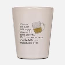 Half Glass Of Beer Shot Glass