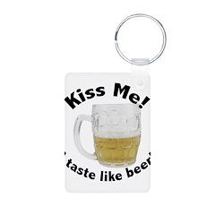 Kiss Me Beer Keychains