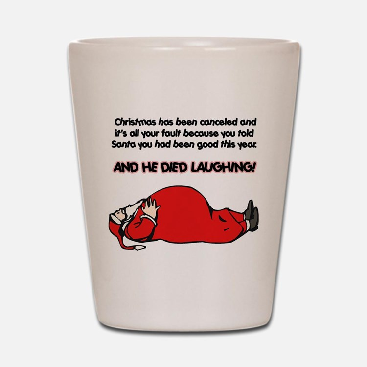Christmas Is Cancelled Joke Shot Glass
