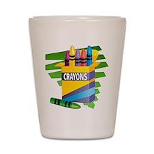 Crayons Shot Glass