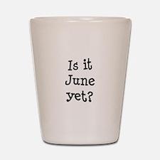 Is It June Yet School Shot Glass