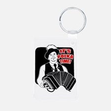 It's Polka Time Aluminum Photo Keychain