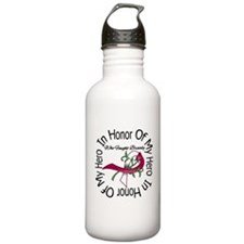 Head Neck Cancer Hero Tribute Water Bottle