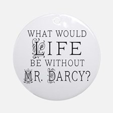 Funny Mr Darcy Ornament (Round)