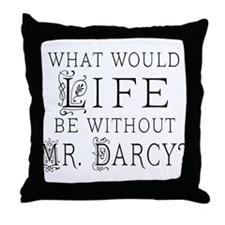 Funny Mr Darcy Throw Pillow