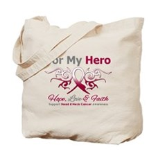 Head Neck Cancer Hero Tote Bag