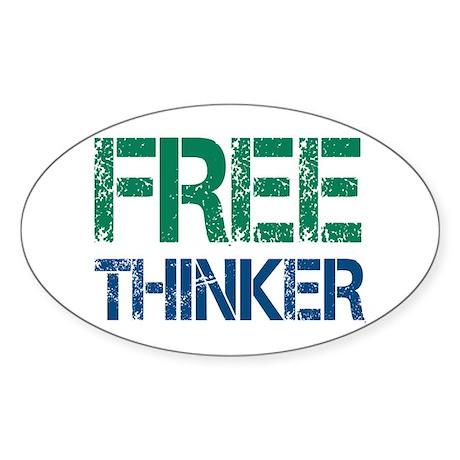 Free Thinker Sticker (Oval 10 pk)