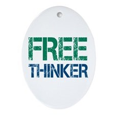 Free Thinker Ornament (Oval)