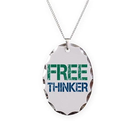 Free Thinker Necklace Oval Charm