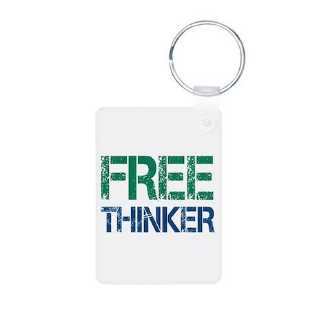 Free Thinker Aluminum Photo Keychain