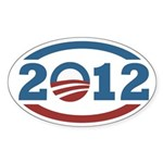 Barack Obama 2012 Icon Oval Bumper Sticker