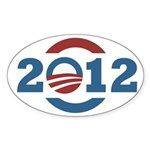 2012 O Obama Symbol Oval Bumper Sticker