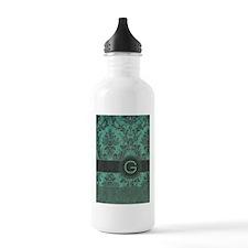 Vintage Damask Monogram Water Bottle