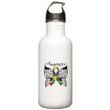 Awareness Butterfly Autism Water Bottle