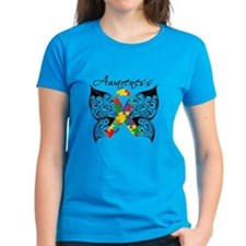 Awareness Butterfly Autism Tee