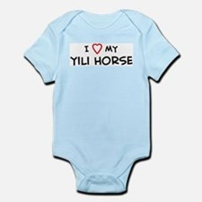 I Love Yili Horse Infant Creeper