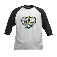 Heart Ribbon - Autism Tee