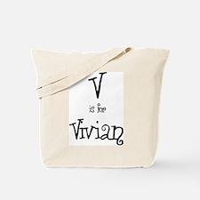 V Is For Vivian Tote Bag