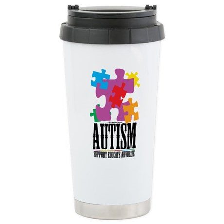 Autism Western Puzzle Stainless Steel Travel Mug