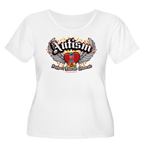 Autism Wings Women's Plus Size Scoop Neck T-Shirt